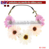 Bride Boho Flower Headband Wedding Floral Crown Hair Band (BO-3068)