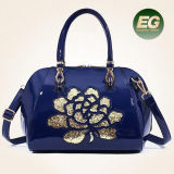 Luxury Patent PU Leather Handbags Women Messenger Bag Lace Embroidery Ladies Shoulder Bgas Sy8408