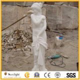 Carving Stone Statue White Jade Marble Sculpture for Garden Decoration