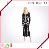 New Design Skeleton Halloween Party Women Dress Costumes for Girls
