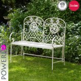 Powerlon Hot Sale Wrougnt Iron Two Seat Garden Bench