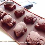 Chocalate Rubber Silicone Cake Mould for Microwave Ovens, Freezers and Dishwashers