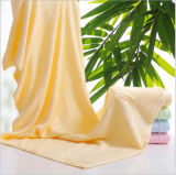 Hot Selling Solid Color Plain Weaving Bamboo Bath Towels for Bath