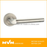 Stainless Steel Door Handle on Rose (S1110)