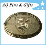 High Quality 3D Brass Military Belt Buckle with Pin Backing (belt buckle-006)