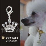 Crown Shape Diamante Pet Tag Cover, Dog Tag (YL71422)