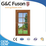 Wooden Grain Finished Aluminium Profile Opening Window (Fuson)