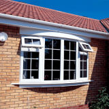 White Color UPVC Awning/Casement Window for Caribbean Villa
