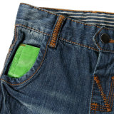 Boys Jeans with Whiskers and Sandblast (15I3-113)
