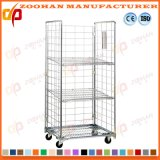 Supermaket Stackable Galvanized Steel Wire Rolling Cage Roll Container (Zhra55)