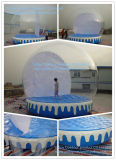 Christmas Inflatable Snow Globe with Bouncy Air Mattress