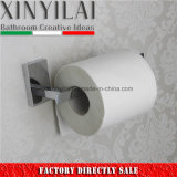 Solid Brass Chrome Toilet Paper Roll Holder with Rectangular Design
