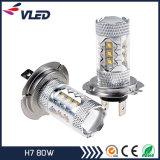 Cheaper Prices H7 80W Car LED Fog Bulb Bright White