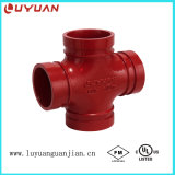 FM/UL Listed Ductile Iron Grooved Equal Cross and 4 Inch Grooved Equal Cross