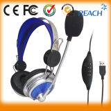 in Stock USB Computer Headphone Gaming Headset with Microphone