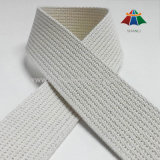 """1.5"""" Inch White Grooved Cotton Webbing Straps"""