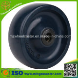 3--8 Inch Blue Solid PU Wheels with Roller Bearing