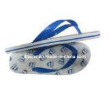 White Rubber Sole Blue PVC Straps Sandals