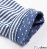 2013 New Design Children Clothing Dress, Blue White Strip Design Dress, Knit Dress