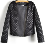 Women Fashion Contracted Lozenge Woven Jacket Clothes