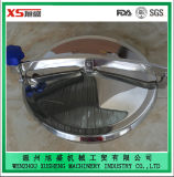 China Round Manhole Cover with Back-Side and Side-Swing Opening
