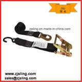 """2"""" S-Hook & Flat Hook Ratchet Strap 2"""" X 8′ Black"""