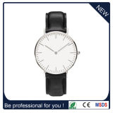 Leather Strap Watches Custom Face Fashion Wrist Watch Alloy Case (DC-414)
