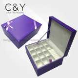 Latest Design Purple PU Leather Jewelry Storage Box for Different Jewelry Package