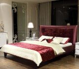 Hot Sale Upholstered Leather Double Bed Bedroom Furniture