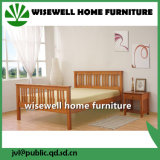 Simple Design Solid Single Wood Bed for Bedroom (WJZ-B78)