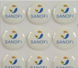 Round Shape Epoxy Sticker Label with Different Colors