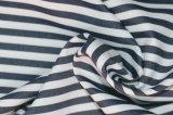Ink/White Checks Twill CVC Yarn Dyed Fabric Shirting