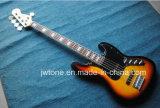 5string Sunburst Color Jazz Electric Bass Guitar