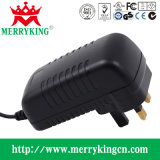 36W AC/DC Adapter, 12V3a Spec Switching Power Supply with UK Plug Bs CE GS RoHS, Horizontal Insert Wall Adapter