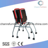 Europe Style Chrome Metal Frame Red Office Mesh Training Chair