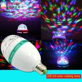 LED Full Color Rotating Lamp 3W E27/B22 RGB Spotlight LED Globe Bulb Mini LED Party Light