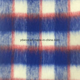 Long Wool Check Wool Fabric for Overcoat