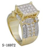 Hip Hop Jewelry Ladies Ring 925 Silver Micropave CZ Rings