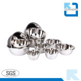 Multi-Size Stainless Steel Bowl Seasoning Salad Bowl Set