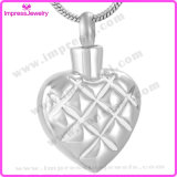 Pendants for Ashes Stainless Steel Heart Pendants with Checkered Pattern Ijd9648