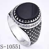 Factory Hotsale 925 Silver Jewelry Ring with Black Agate