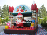 Inflatable Merry Christmas Bounce for Kids/Inflatable Santa Claus Bounce