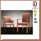 Elegant Comfortable Round Back Arm Chair with Metal Aluminium Frame