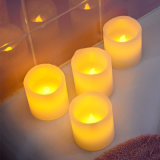 The Waves Mouth Tea Light Flameless Candle for Birthday and Decoration