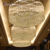 Modern Stainless Steel Crystal Chandelier for Hotel Project