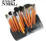 Animal Hair Beauty Make up Tools OEM Real Mink Hair Wood Handle Cosmetic Brushes 30PCS