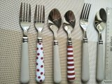Plastic Handle Flatware Set 24PCS a Set