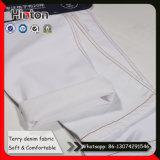 Super White Color Terry Jean Fabric 8oz Stretch Denim Fabric