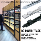 12V 24V DC Power Track with LED Strip Lights for Shelves RGB Bar