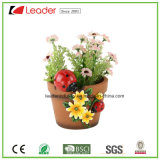High Quality Resin Garden Planter with Beetle Figurines for Home and Outdoor Decoration